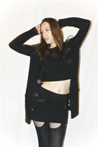 black Vero Moda cardigan - black Miss Sixty sweater - black Zara skirt - black C