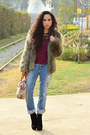Black-ankle-boots-gojane-boots-light-brown-faux-fur-h-m-coat