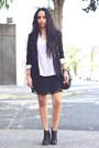 Black-lace-zara-dress-light-pink-silk-zara-blouse
