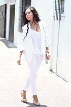 white blazer Zara blazer - white pants Zara pants