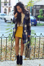 Black-ankle-boots-gojane-boots-navy-plaid-jollychic-coat