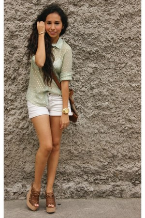 gold Breda watch - tawny pull&bear bag - beige Mango shorts