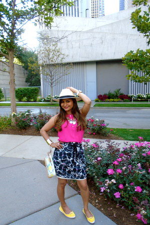 Loft skirt - JCrew hat - kate spade bag - bracelet