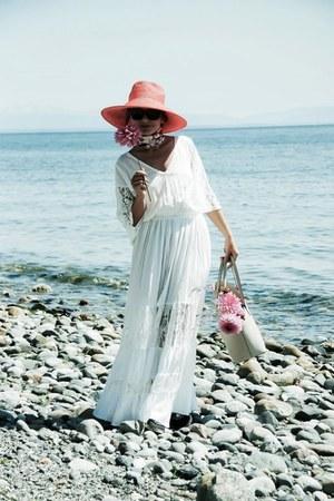 maxi Sheinside dress - tote kate spade bag