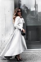 grey NA-KD sweater - grey NA-KD skirt - NA-KD heels