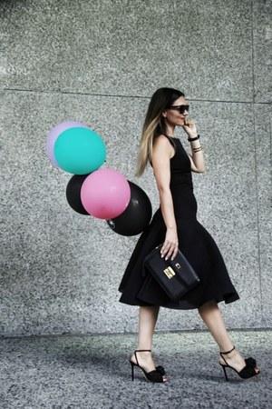 black Charlotte Olympia shoes - black Black Halo dress - black Celine sunglasses