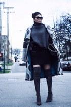 black Gucci bag - stuart weitzman boots - cozy Zara sweater
