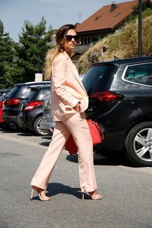 tote bag Michael Kors bag - suit Zara suit - sandals Chicwish heels