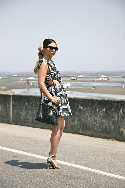 floral print Topshop dress - sandals Topshop heels