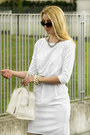 White-oasap-dress-white-liviana-conti-bag-silver-chanel-earrings