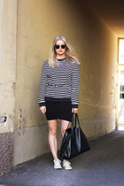 t by alexander wang skirt - COS sweater - Celine bag - Converse sneakers