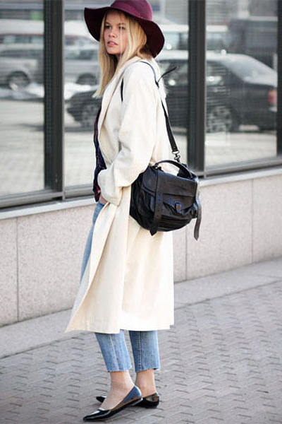 weekday coat - H&M jeans