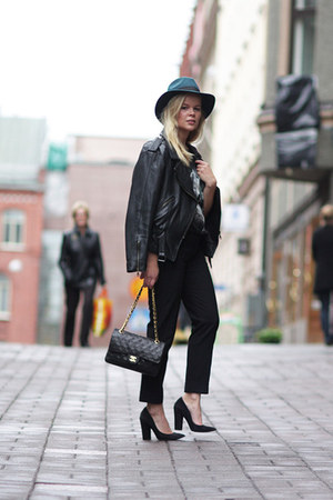 Zara heels - GINA TRICOT hat - Chanel bag - Zara pants