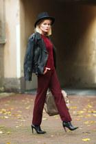 GINA TRICOT jumper - Din Sko boots - GINA TRICOT hat - Zara pants