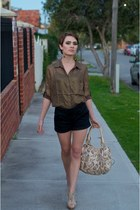 Dotti shorts - FATE Clothing blouse - betts heels