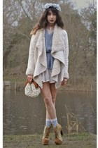 eggshell Chicwish jacket - mustard Jeffrey Campbell boots