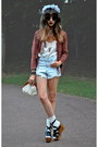 Light-blue-garland-topshop-hat-pink-topshop-jacket-off-white-chicwish-bag