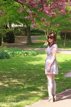 silver new look dress - silver Primark socks - silver asos shoes - black Miss Se