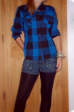 blouse - Aeropostale shorts - Target leggings