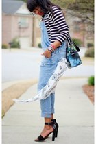 AWED BY MONICA: SKULLS, STRIPES AND OVERALLS