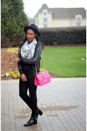 Miu Miu boots - JCrew hat - Valentino bag