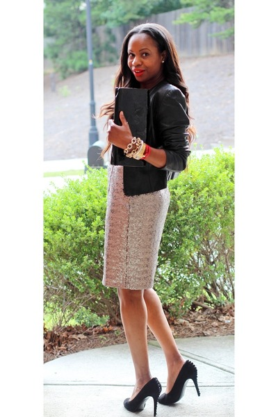 aoso top - J Crew skirt - Alexander McQueen pumps