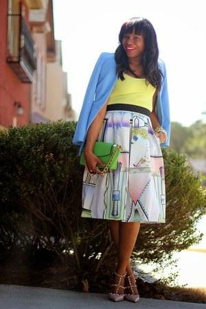 Valentino shoes - H&M blazer - Theory top