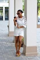Dolce & Gabbana sunglasses - JCrew earrings