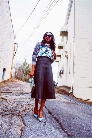 Zara skirt - Celine sunglasses - peter pilotto for target skirt sweatshirt