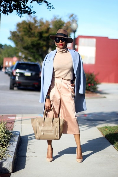 J Crew sweater - Celine bag - Celine sunglasses - asos pants
