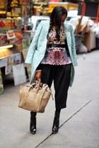 majestic t-shirt - Celine bag - Clover Canyon top - Gucci belt