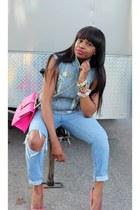 Joes Jeans jeans - Rebecca Taylor vest - Christian Louboutin pumps