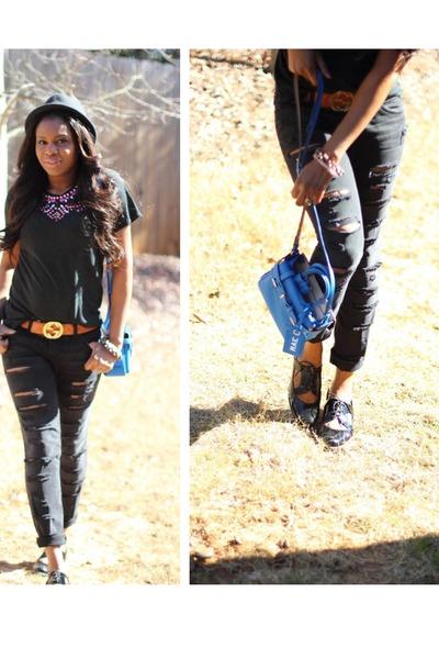 Topshop t-shirt - Gucci belt