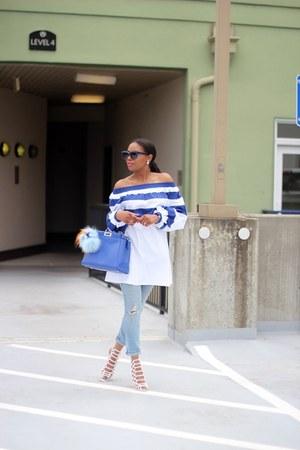 rag & bone jeans - Fendi bag - Celine sunglasses