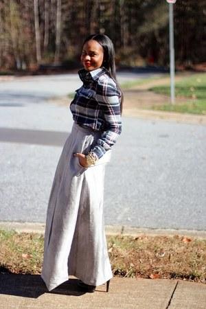 Theyskens Theory skirt - Nine West boots - Paige shirt