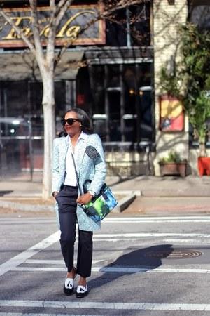stuart weitzman shoes - Reed Krakoff shirt - Celine sunglasses