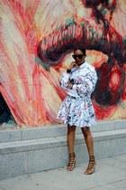 Celine sunglasses - asos skirt - Aquazzura sandals - asos sweatshirt