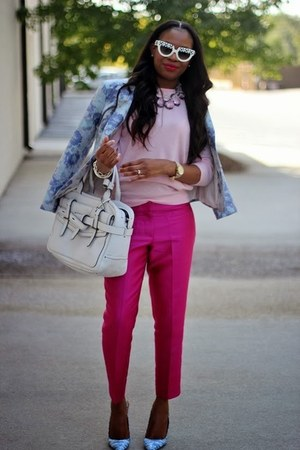 J Crew sweater - banana republic blazer - Prada sunglasses