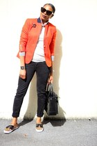 JCrew jacket - Reed Krakoff bag - Celine sunglasses