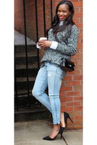 rag & bone jeans - Joe Fresh sweater - Chanel bag