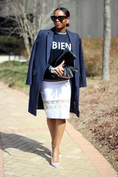 JCrew coat - J Crew shoes - NONA RTw skirt