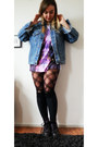 Deep-purple-dr-martens-boots-river-island-jacket-black-h-m-tights
