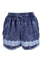 Fairy Houses Alignment Chambray Shorts