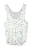 LEAVES OF MEMORY CROCHET LACE TOP (WHITE)