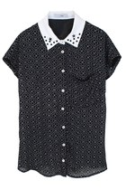 Clubs of Vintage Studded Stars Top (Black)