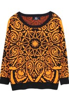 Tribal Totem Knitted Sweater (Orange)