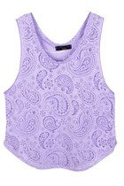NEW MOON LACEY MODAL TOP IN PURPLE