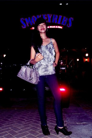 iconninety9 boots - Gaudi jeans - Paris Hilton Purses bag - body n soul top