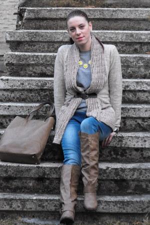 AmiClubWear boots - romwe cardigan