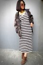 Dark-brown-ankle-belle-boots-white-maxi-unbranded-dress